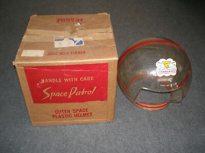Space Patrol Outer Space Plastic Helmet Ralston MIB Complete 1952...