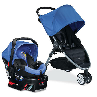 NEW Britax B-Agile 3 Stroller And B-Safe 35 Travel System S Sapphire S02063700