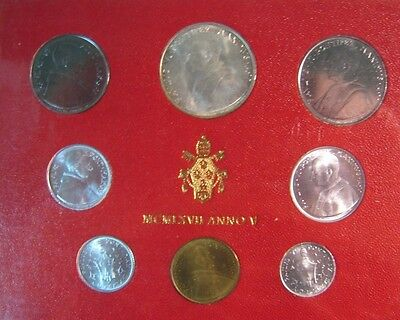 1967 Vatican City Mint Coinage Set Uncirculated 8 Coin**  FREE U.S. SHIPPING  **