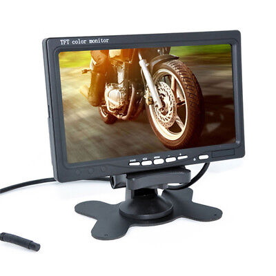 "Car Monitor 7"" Digital Color TFT 16:9 LCD Reverse Monitor with 2 Bracket holder"