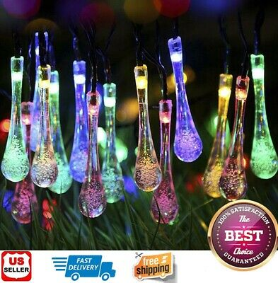 Outdoor Solar Powered 30 LED String Light Garden Patio Yard Landscape Lamp Party