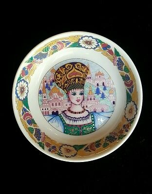 Poccug Hand Painted Porcelain Dish Signed