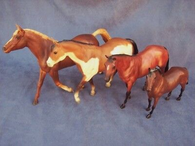 BREYER Lot of  4 STOCK HORSE PAINT MORGANGLANZ THOROUGHBRED HORSE HORSES