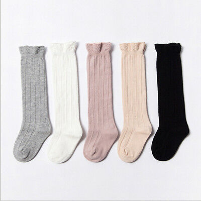 Baby Toddler Unisex Cotton Knee High Socks Tights Leg Warmer Stockings For 0-3Y