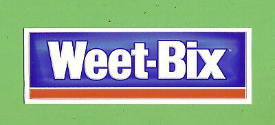 #D326. SMALL SANITARIUM WEETBIX STICKER - 92mm by 32mm