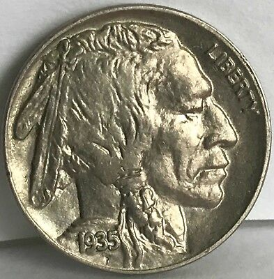 Brilliant Uncirculated 1935-P Philadelphia Mint Buffalo Nickel FREE Shipping WOW