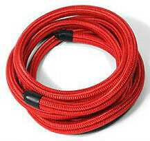 8 AN Pros Lite Red Braided Nylon Fuel speedway motors red see through hotrod fuel line hose, 3 8 inch i d