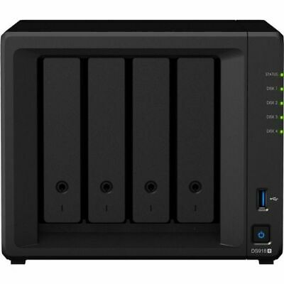 Synology DS918+ 4GB DiskStation 4-Bay NAS Network Attached Storage Quad Core