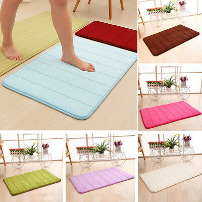 Memory Foam Soft Bathroom Bedroom Bath Mat Floor Rug Carpet With Non Slip Back