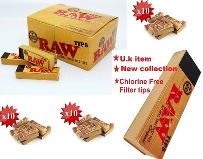 Raw Rolling Paper Roach Filter Tips Chlorine Free Roach Book, 1 - 50 *RwTip