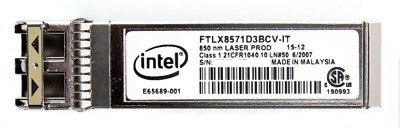 Intel - 1G/10G Dual Rate Sfp Fiber Optical Transceiver Module (Ftlx8571D3Bcv-It)