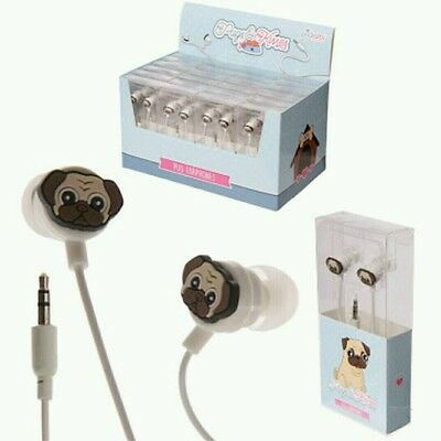 Pugs & Kisses Pug Dog Ear Wave Earpods Headphones Earphones