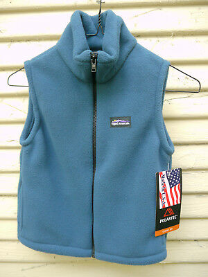 Ragged Mountain Polartec 200 fleece vest NWT Kids 6 Made in USA