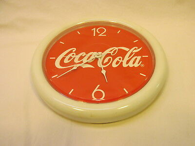 """~ 10"""" Round Battery Operated Coca Cola Clock"""