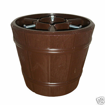 True Barrel Brown Christmas Tree Stand for Real & Artificial Trees to 3m / 9.8ft