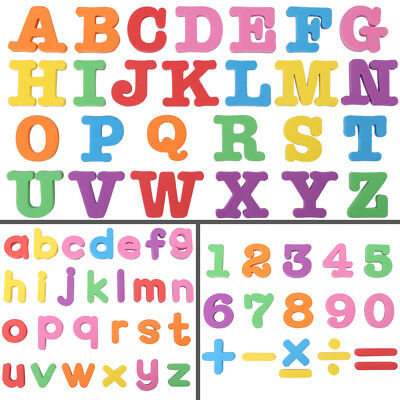 Kids Magnetic Alphabet Letter Maths Number Fridge Magnets Toy Xmas Gift 3Types
