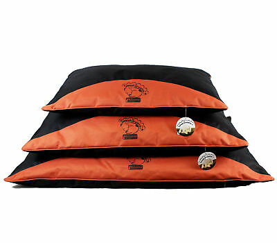 Sweet Dreams Red & Black Waterproof Dog Pillow by World of Pets S/M/L