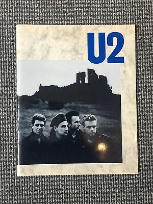 U2 - The Unforgettable Fire Tour Programme - Signed by Bono and Adam Clayton