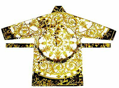 Versace Gold Ivy Edera Barocco Baroque Bathrobe Bath Robe