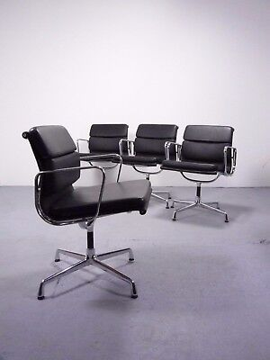 1 (von 3) Vitra EA208 leather softpad alu chair design Charles&Ray Eames