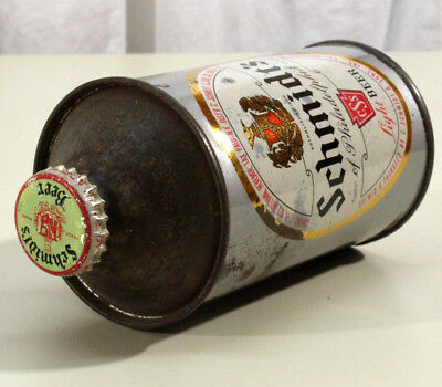 Schmidts Irtp Flat Bottom Cone Top Beer Can+Bottle Cap Philadelphia Pennsylvania
