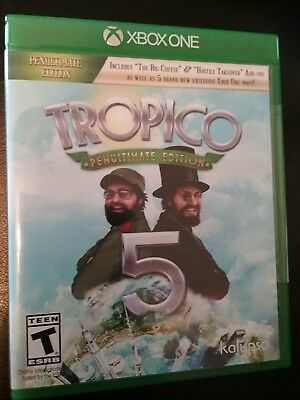 Tropico 5 Penultimate Edition (XBOX ONE) Brand New Sealed + Expansions