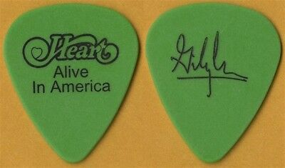 Heart Gilby Clarke real 2003 Alive in America tour signature Guitar Pick - green