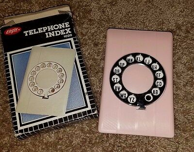 Vintage Telephone Rotary Dial Index New In Box Eagle Model 1020A