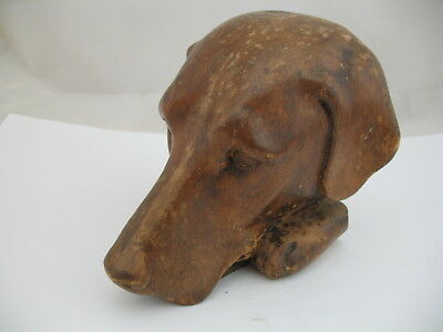 Carved Wood Dog's Head with Paws, Architectural, what breed is this? Lab?