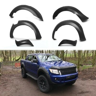 Ford Ranger T6 Raptor 2012-2015  MATTE BLACK XO Wide Wheel Arch Kit - Flares