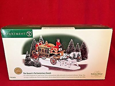 The Queen's Parliamentary Coach Dept 56 Dickens Village 58454 retired Christmas