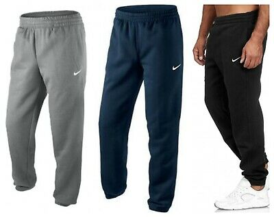 NIKE MENS SWEAT Pants Grey Black Tracksuit Jogging Fleece Bottoms Joggers S XXL