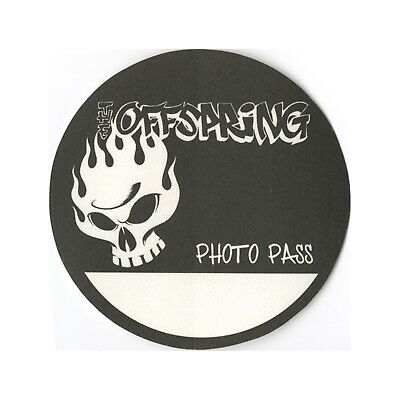 The Offspring authentic 2000 Conspiracy of One Tour satin Backstage Pass photo