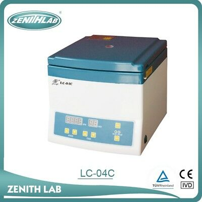 LC-04C Centrifuge 4000 RPM (15mL x 12) veterinary phlebotomy PRP PPP comestics