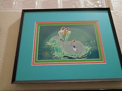 Tiny Toons Babs Bunny Production Cel Framed And In Perfect Condition Wb Seal/coa
