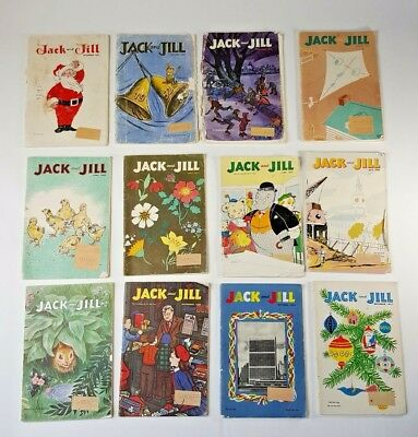 Jack and Jill Collectible Mid Century Kids Magazine 1952 Paper Dolls - Holiday
