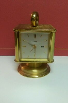 Vintage Alfry Solid Brass Clock, Thermometer, Hygrometer, and Barometer. Works!