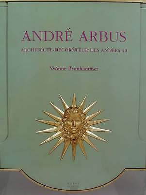 FRENCH BOOK : ANDRÉ ARBUS French decorator designer 1940s, 40s, 50s