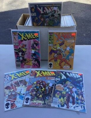MARVEL Lot of 125 Xmen Comic Books Storage Unit Find