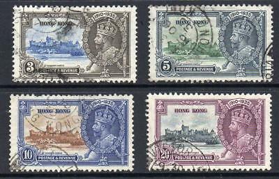 Hong Kong 1935 Set of 4 Silver Jubilee Very Fine Used  Excellent Quality Sound !