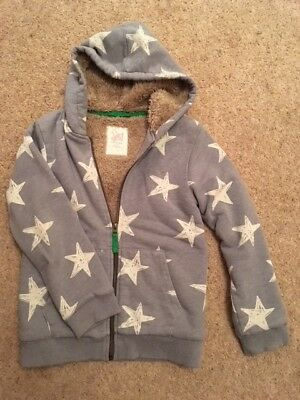 Mini Boden Star Hoodie Aged 9-10 Excellent Condition Very Warm Heavyweight