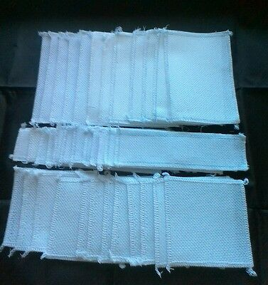 BUMPER PACK 18ct Aida all White Ideal for Cards and Book Marks