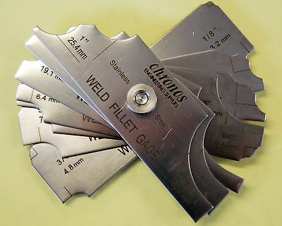 7 piece fillet weld set Gauge RL gauge Welding Inspection Test Ulnar Metric UK