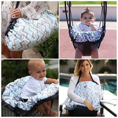 Maya & Max Baby Tote Bag Nursing Cover Play Mat Infant Car Seat/High Chair Cover