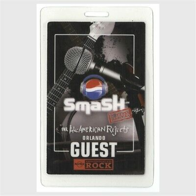All American Rejects authentic 2007 concert Laminated Backstage Pass Pepsi Smash