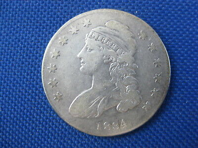 1834 Silver Bust Half Dollar 50 Cent Coin Small Date & Small Letter