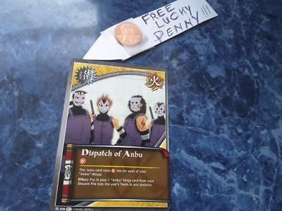 Naruto Cards TCG CCG  808 Dispatch of Anbu  white  + Free Penny