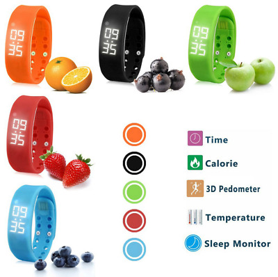 Children Smart Activity Bracelet Tracker Pedometer Step Counter Fitness Kids UK