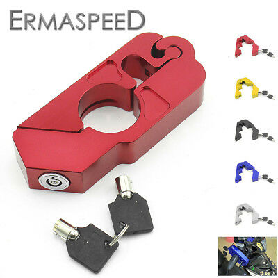 Motorcycle Handlebar Lock Scooter ATV Brake Clutch Security Safety Protection