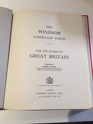Great Britain Stanley Gibbons Windsor album for stamp collection 1971-83 Vol II